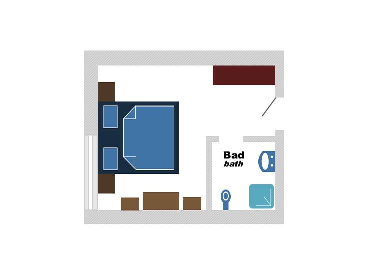 Plan Doppelzimmer